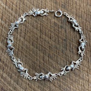 Jewelry - 925 Sterling Silver Frog Bracelet